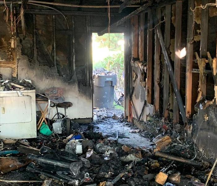 Garage Left Destroyed After Car Fire